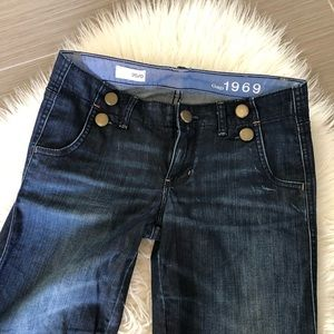GAP dark wash flare jeans